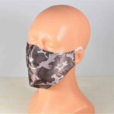 Maska z bulikiem srebrna