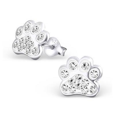 Kolczyki łapki z kryształkami