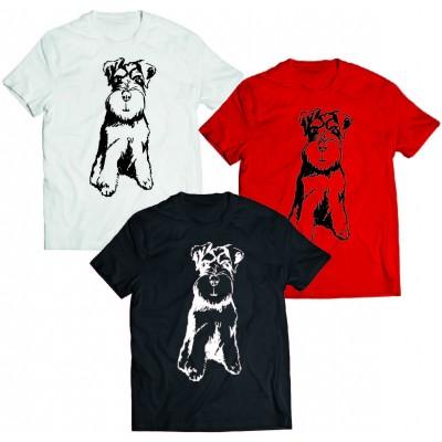 Koszulka Sznaucer szkicowany