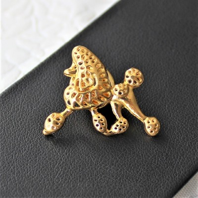 PIN Pudel złoty