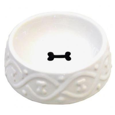 Miska ceramiczna z kostką 16cm