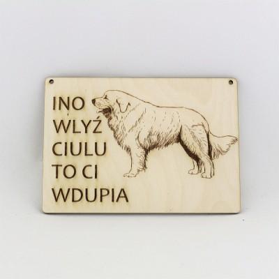 Tabliczka INO polski owczarek podhalański